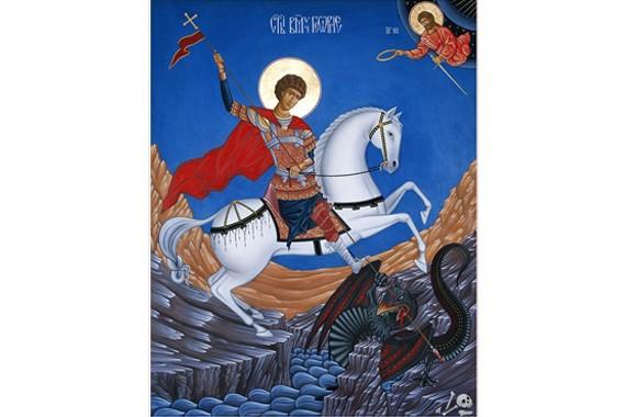 Viaţa Sfântului Mare Mucenic Gheorghe, Purtătorul de biruință